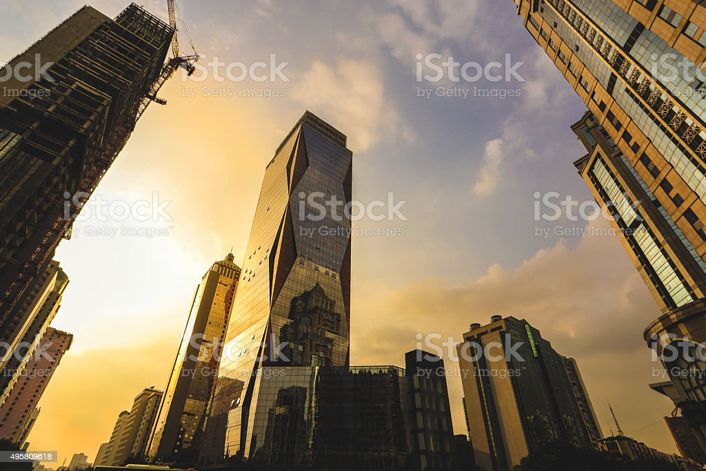 Downtown district stock photo