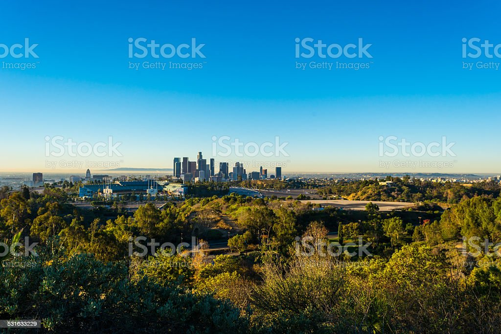 Downtown Dodgers stock photo