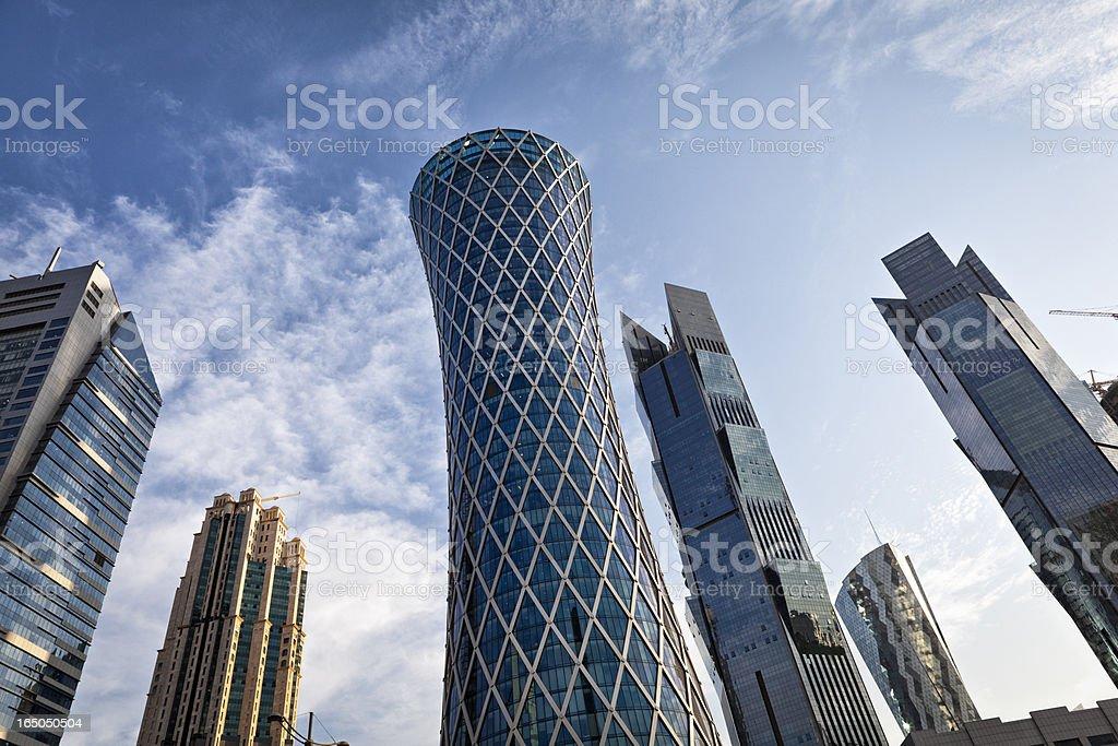downtown doha royalty-free stock photo