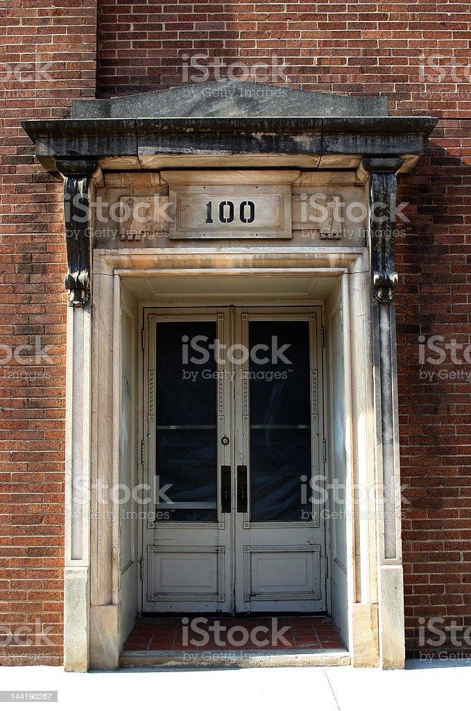 Downtown Doorway royalty-free stock photo