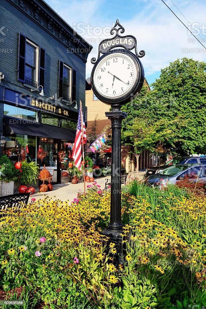 Downtown Douglas in Michigan stock photo