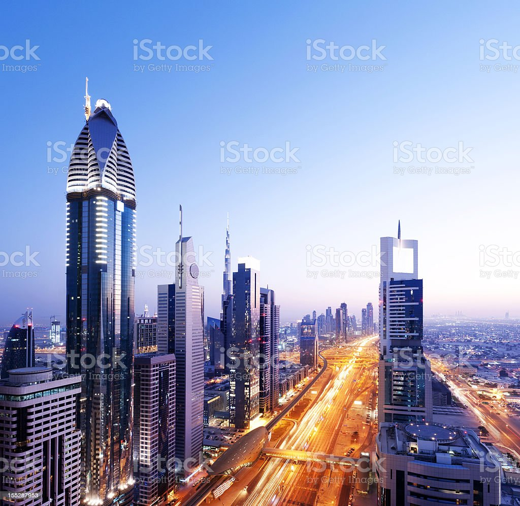 Downtown Dubai City Skyline UAE stock photo