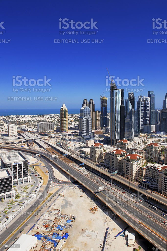 Downtown Dubai is a large scale complex under development royalty-free stock photo