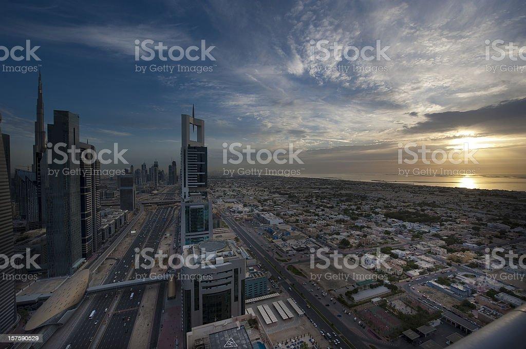 Downtown Dubai royalty-free stock photo