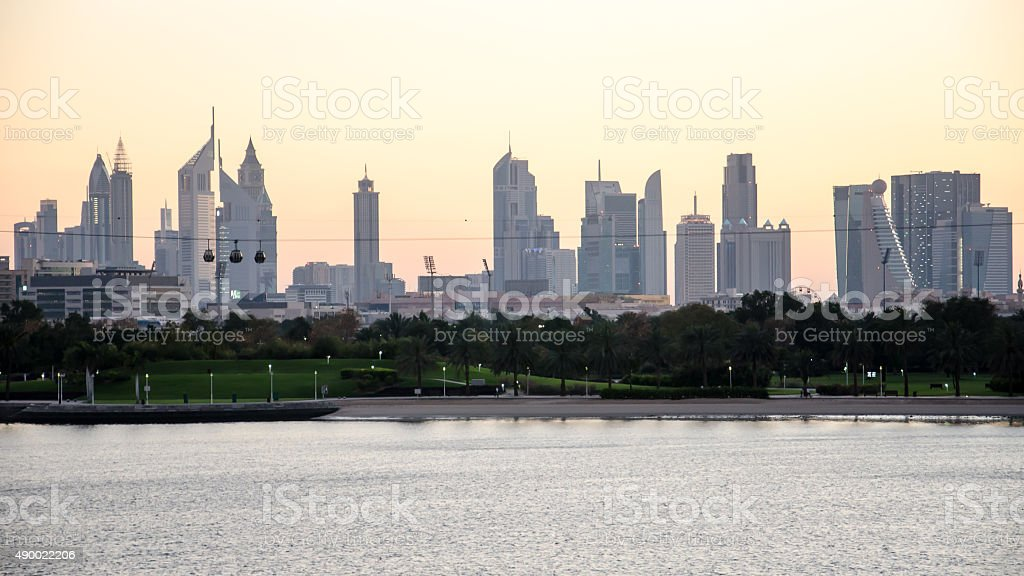Downtown Dubai Skyline stock photo