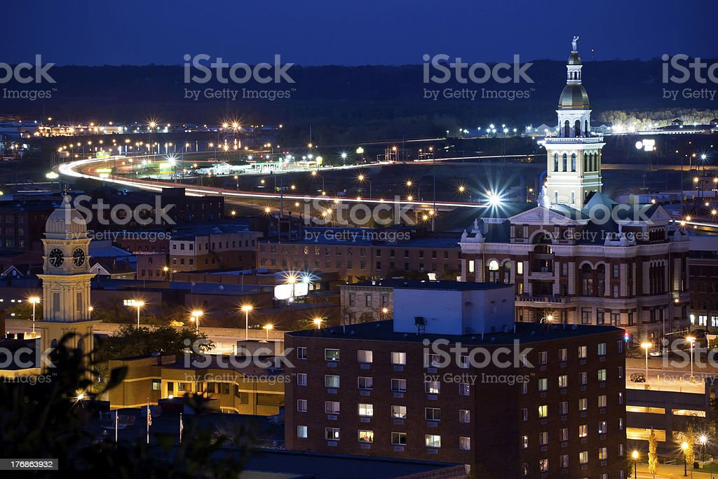 Downtown Dubuque, Iowa stock photo