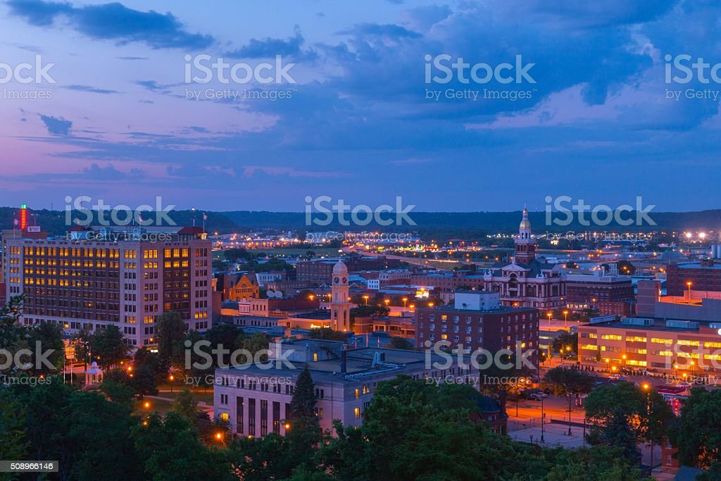 Downtown Dubuque Iowa stock photo
