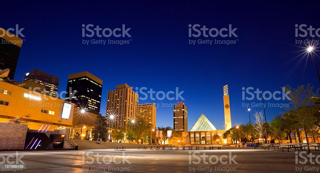 Downtown Edmonton, City Hall stock photo