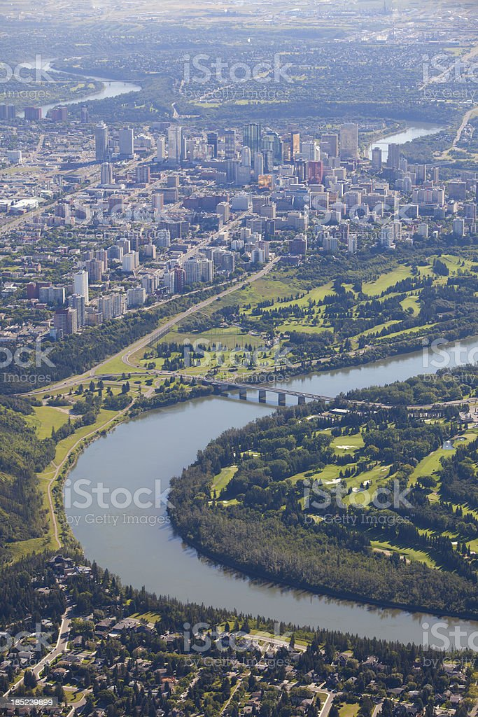 Downtown Edmonton stock photo