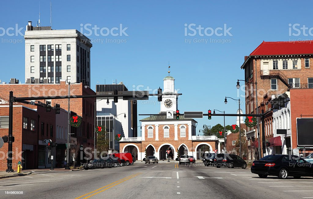 Downtown Fayetteville stock photo