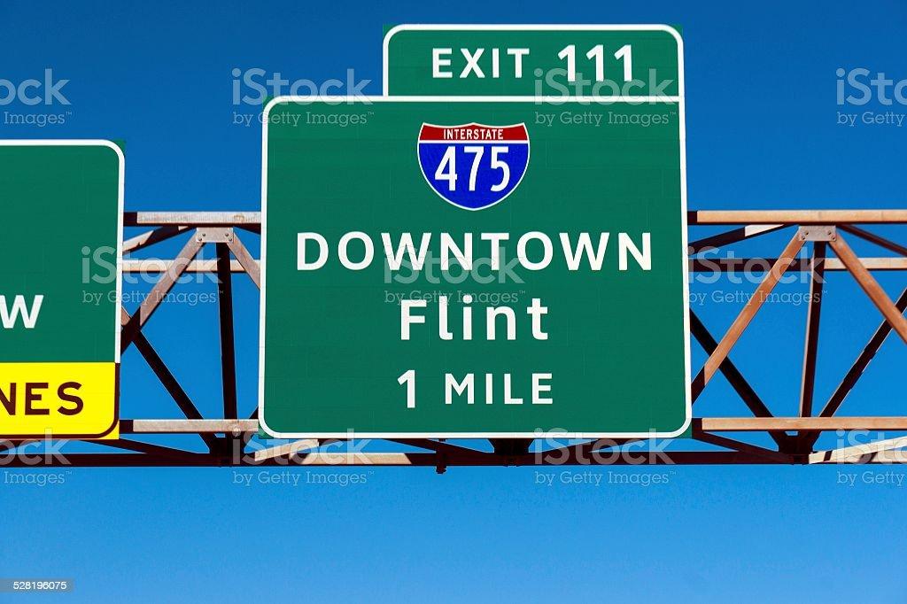 Downtown Flint stock photo