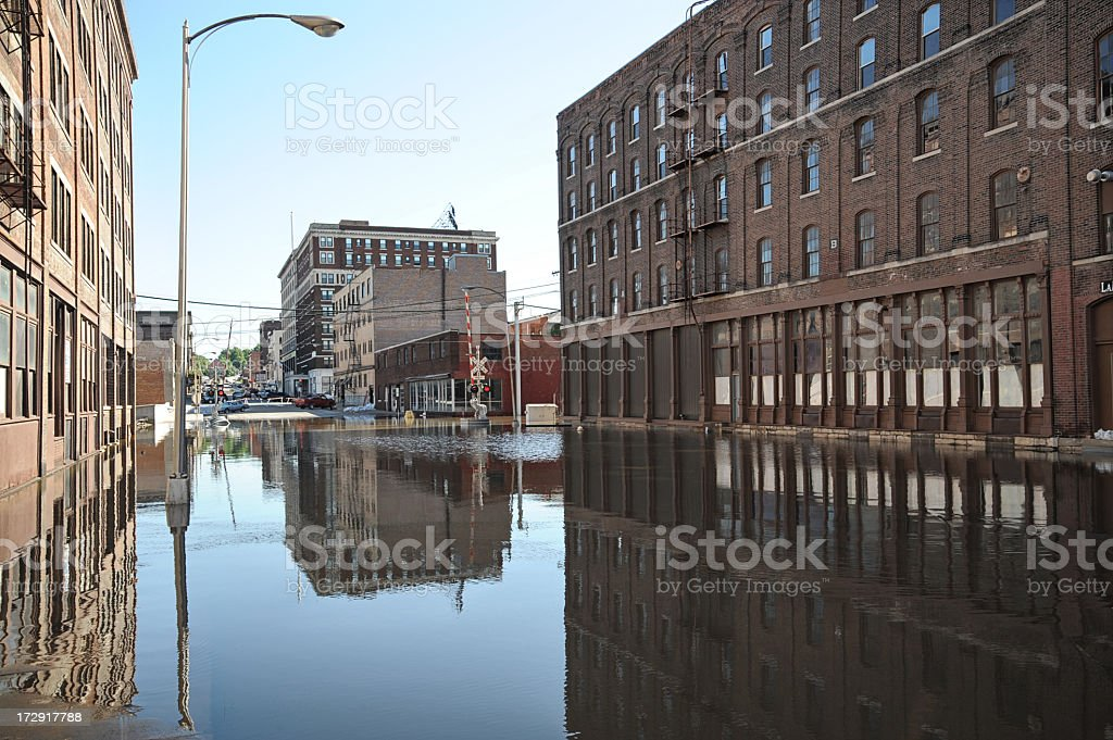 Downtown Flooding royalty-free stock photo