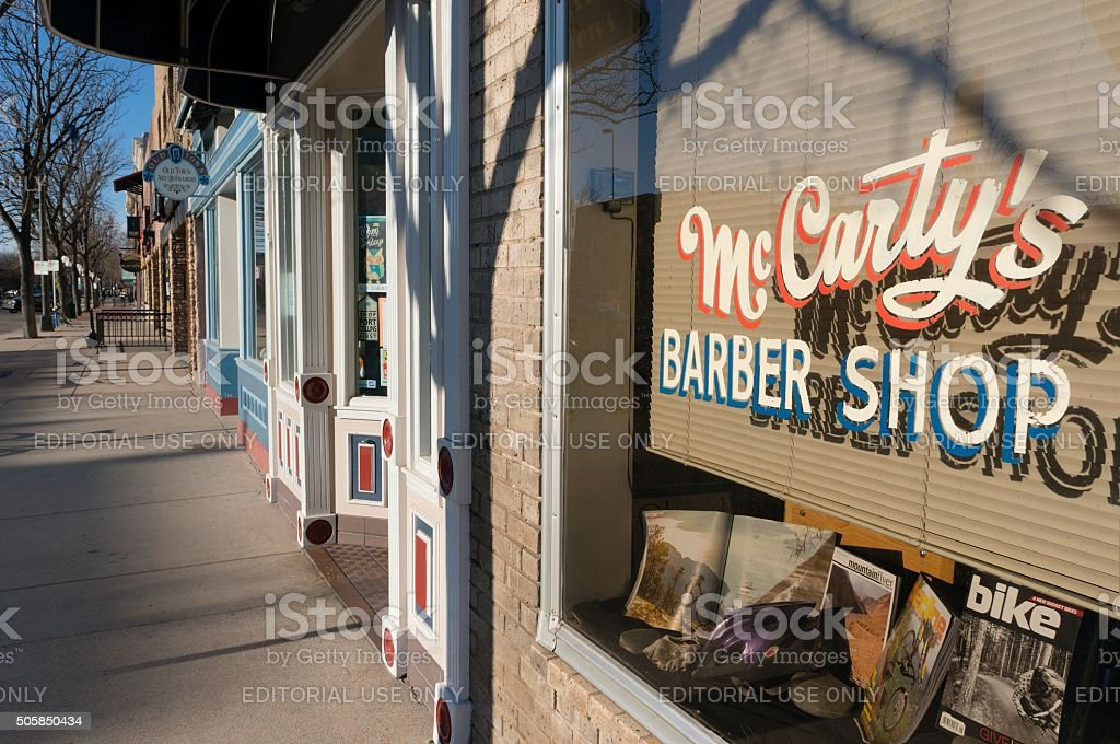 Downtown Fort Collins, Colorado stock photo
