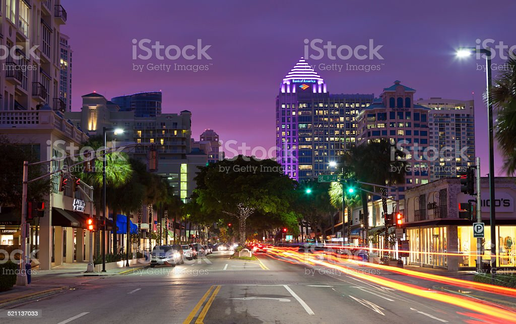 Downtown Fort Lauderdale, Florida stock photo