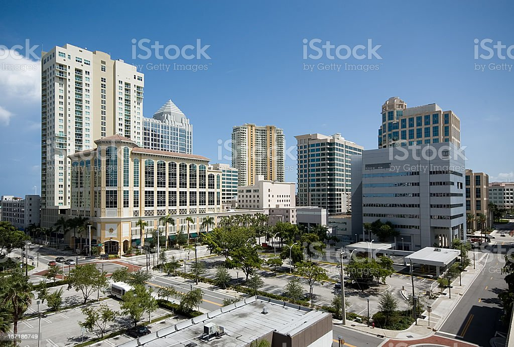 Downtown Fort Lauderdale royalty-free stock photo