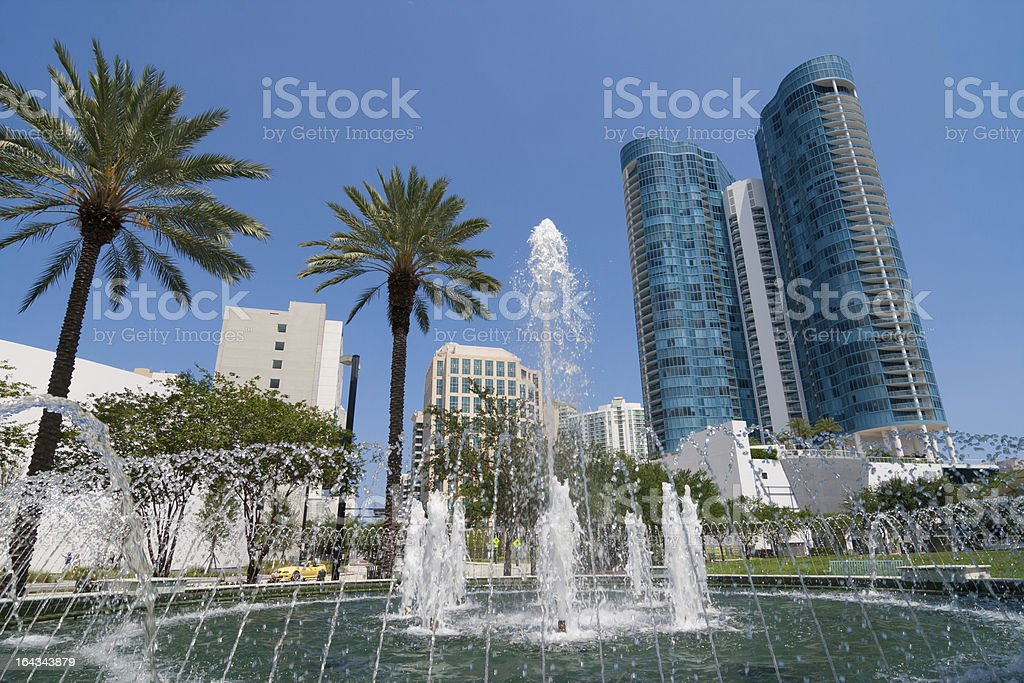 Downtown Fort Lauderdale stock photo