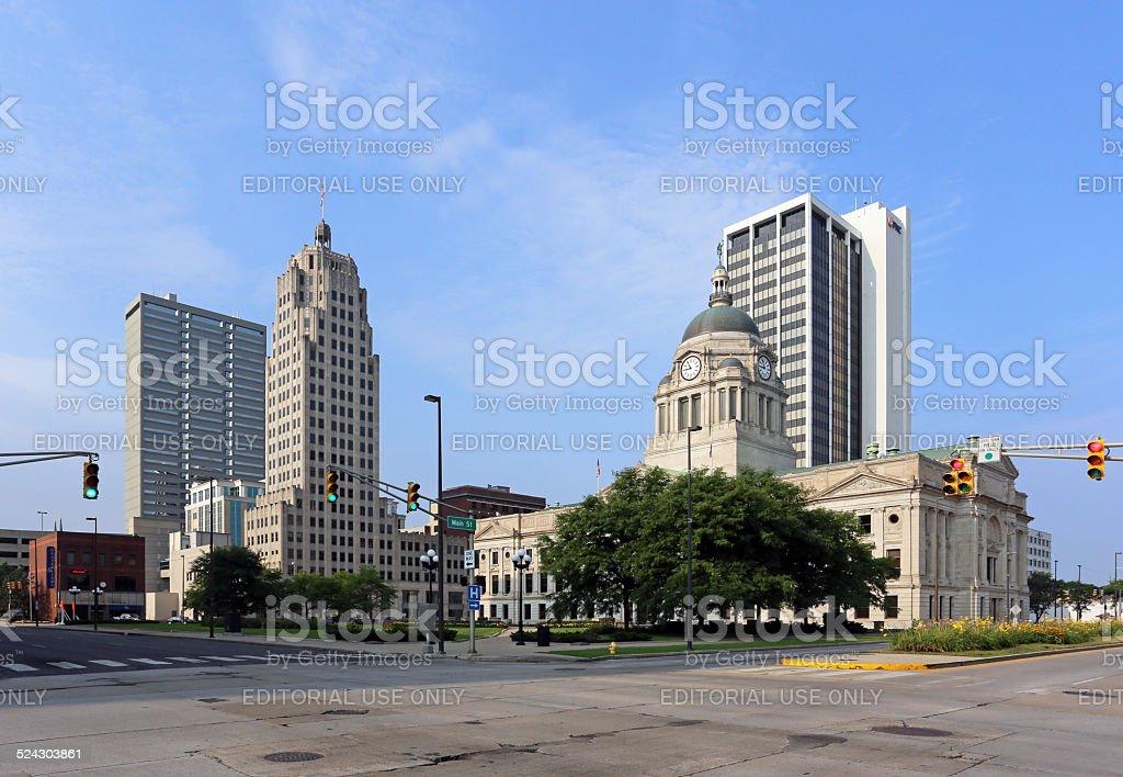 Downtown Fort Wayne stock photo