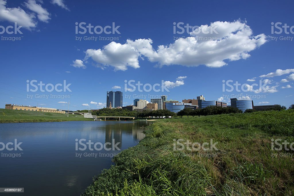 Downtown Fort Worth Texas stock photo