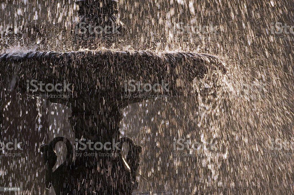 Downtown fountain stock photo