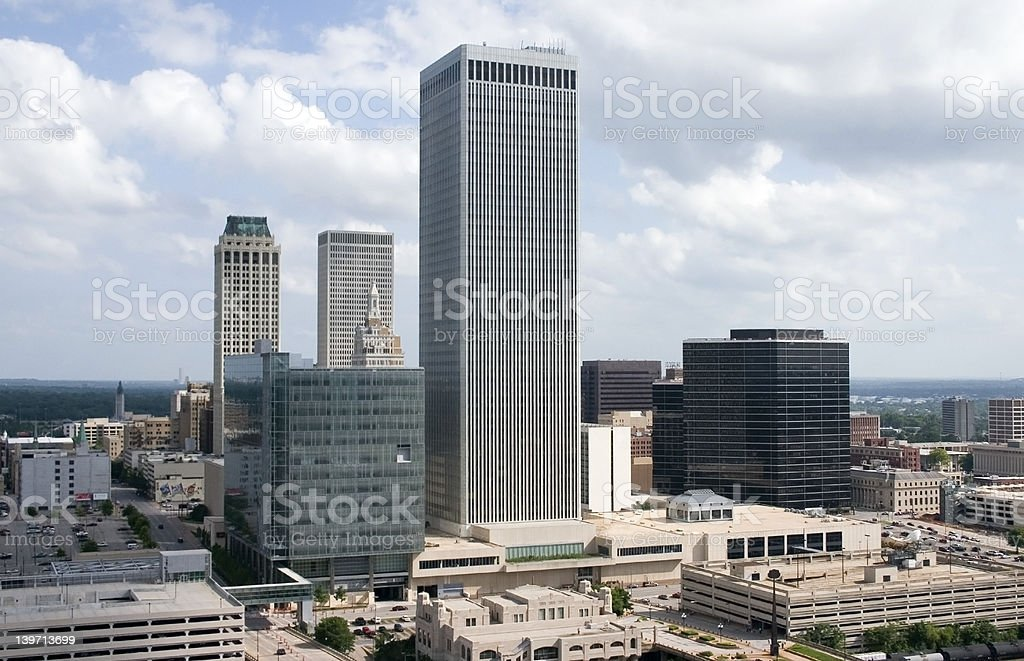 downtown from above 01 royalty-free stock photo