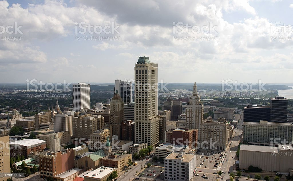 downtown from above 06 royalty-free stock photo