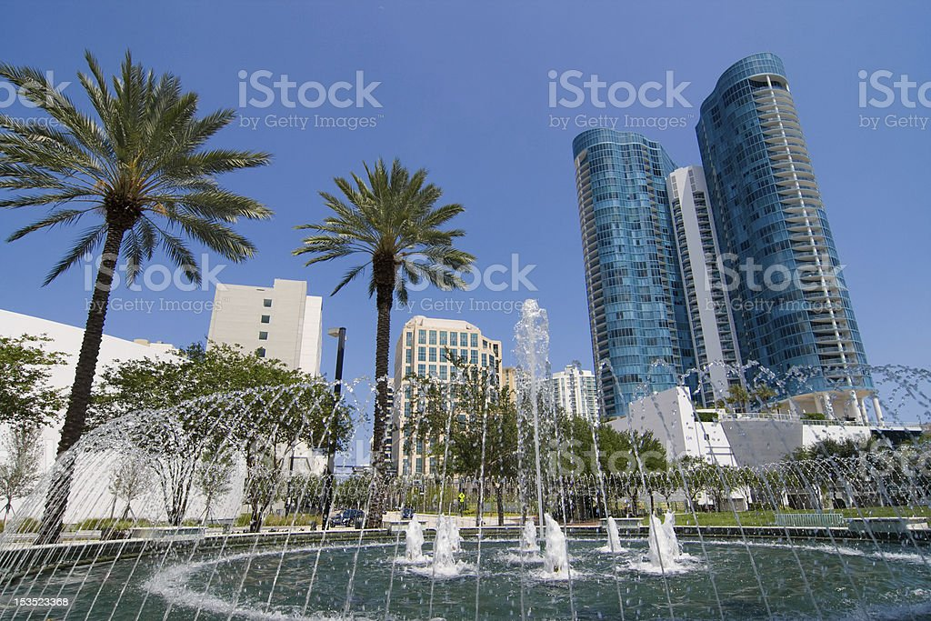 Downtown Ft. Lauderdale royalty-free stock photo