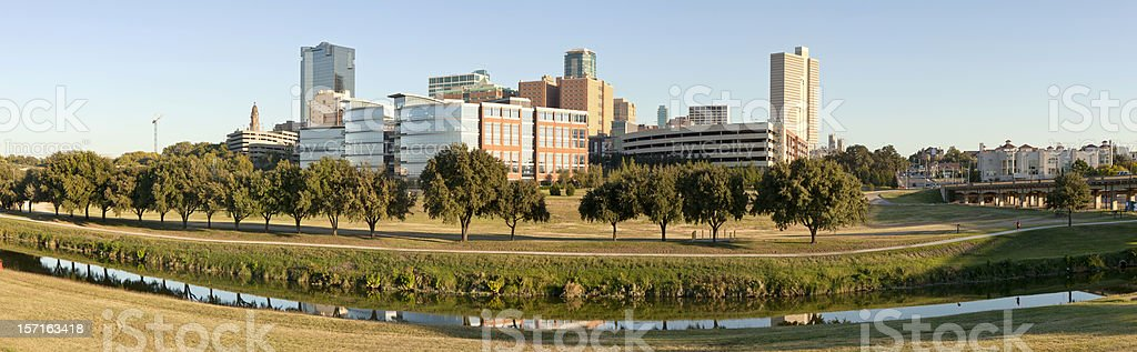 Downtown Ft Worth, Texas (panoramic) stock photo
