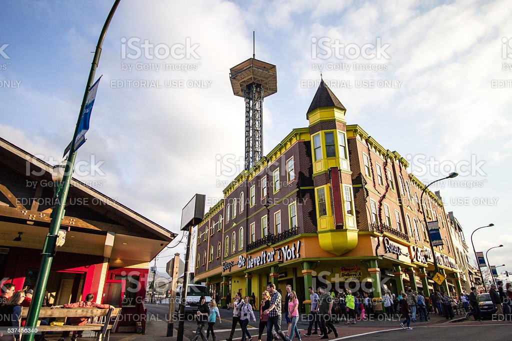 Downtown Gatlinburg Tennessee stock photo