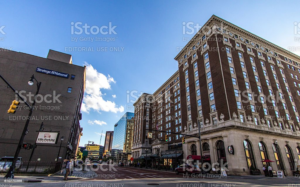 Downtown Grand Rapids Michigan stock photo