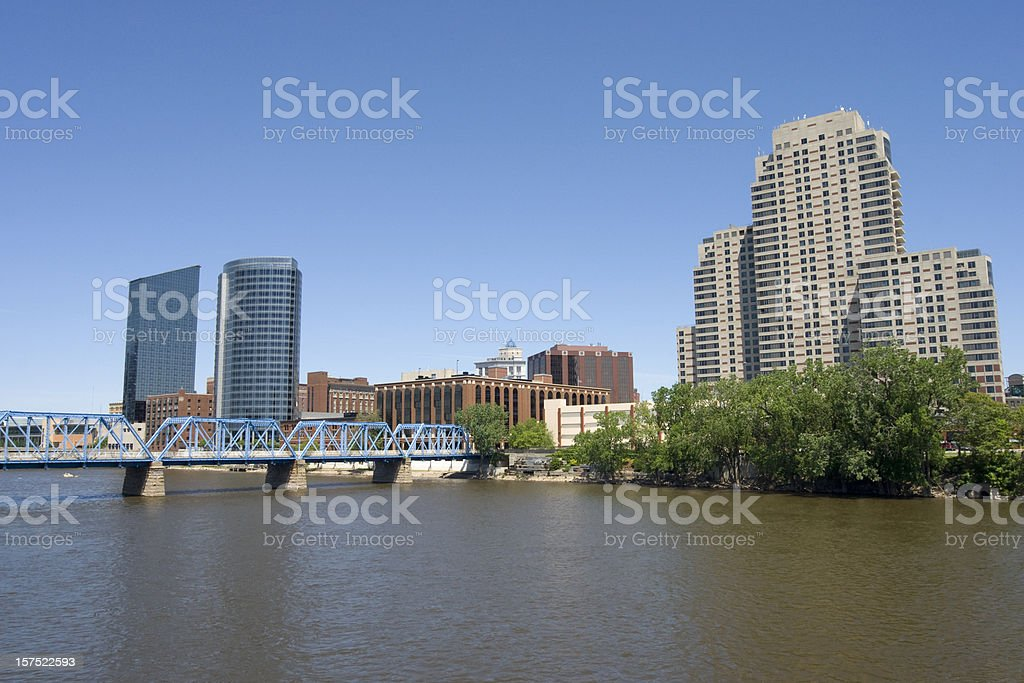 Downtown Grand Rapids stock photo