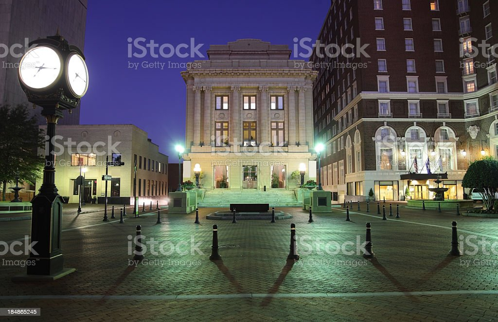 Downtown Greenville South Carolina royalty-free stock photo