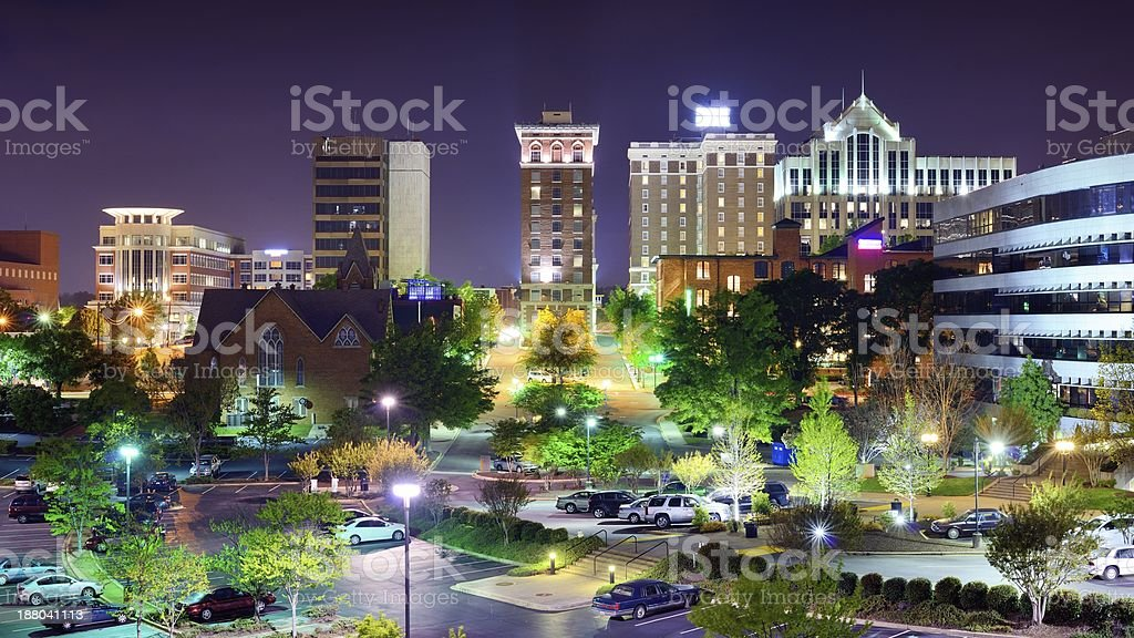 Downtown Greenville, South Carolina stock photo