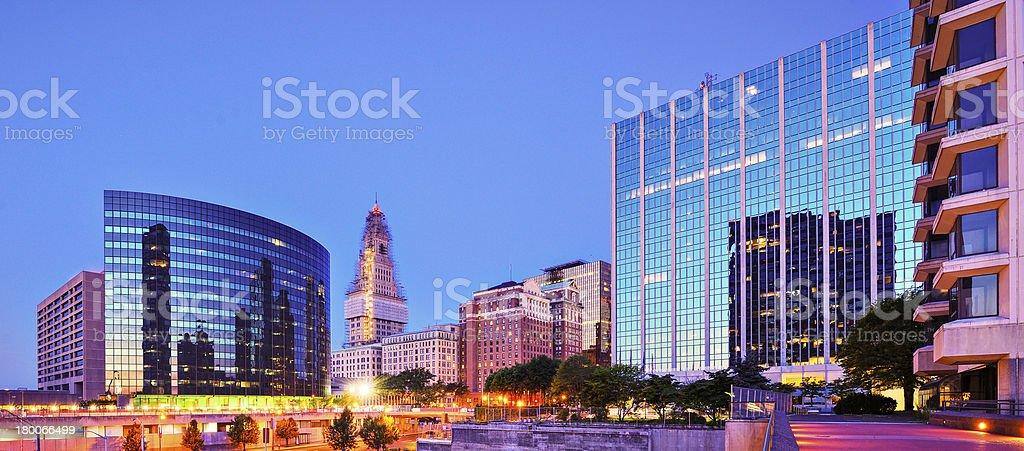 Downtown Hartford, Connecticut Skyline stock photo