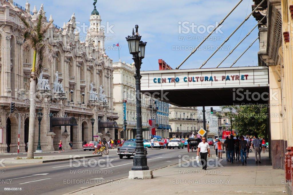 Downtown Havana stock photo