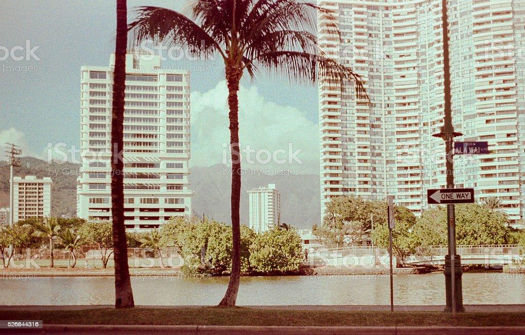 Downtown Hawaii stock photo