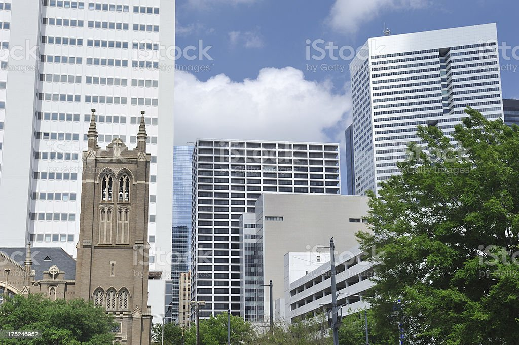 Downtown Houston royalty-free stock photo