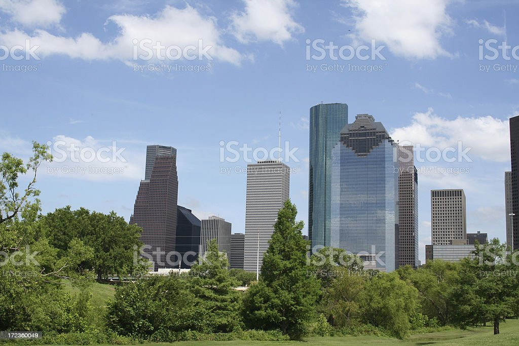 Downtown Houston Skyline stock photo