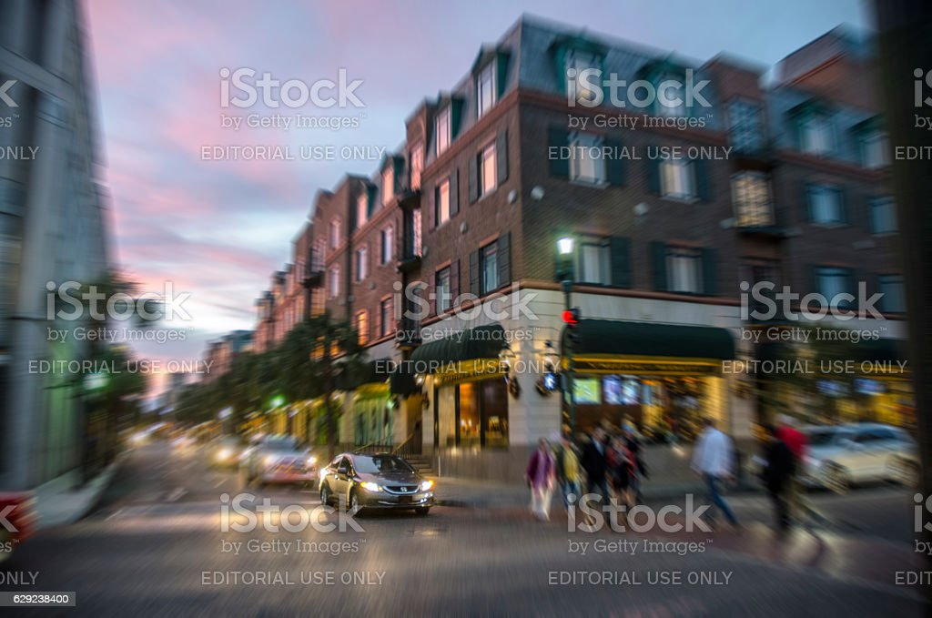 Downtown in Historic Charleston, South Carolina stock photo