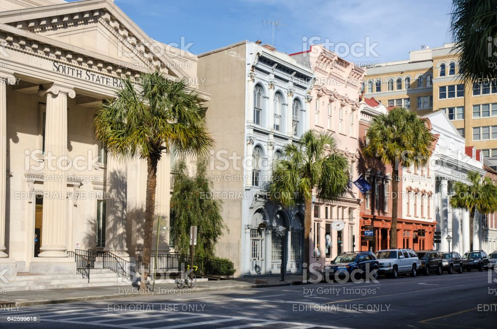 Downtown in Historic Charleston, South Carolina stock photo
