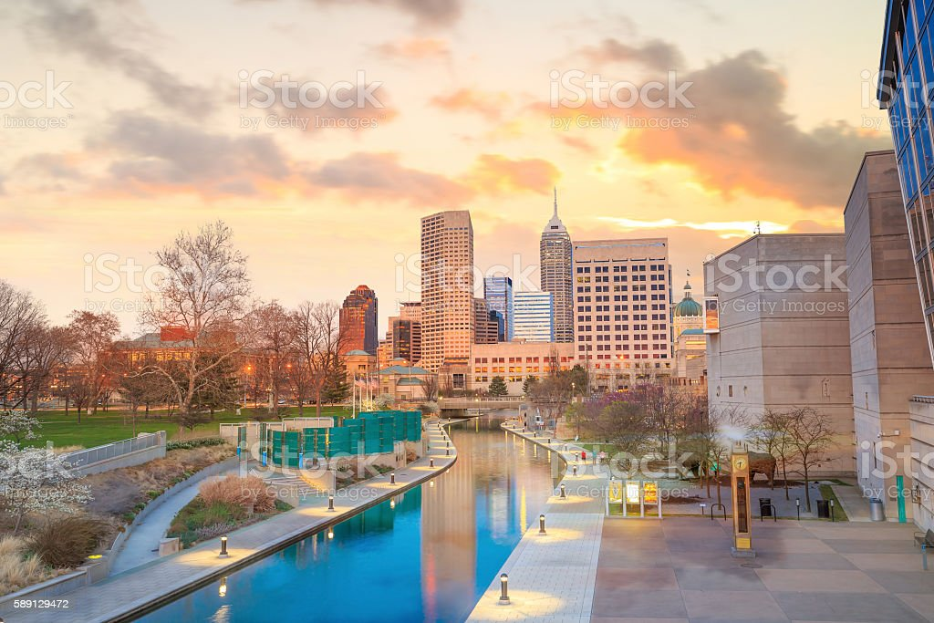 Downtown Indianapolis skyline stock photo