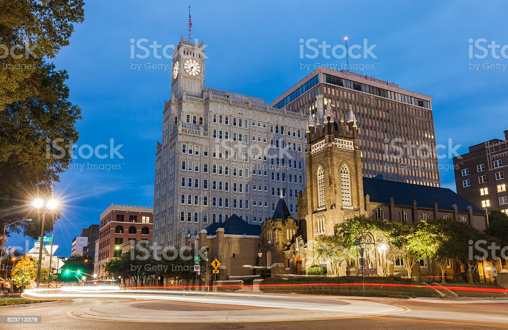 Downtown Jackson, Mississippi stock photo