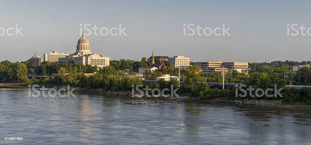 Downtown Jefferson City stock photo