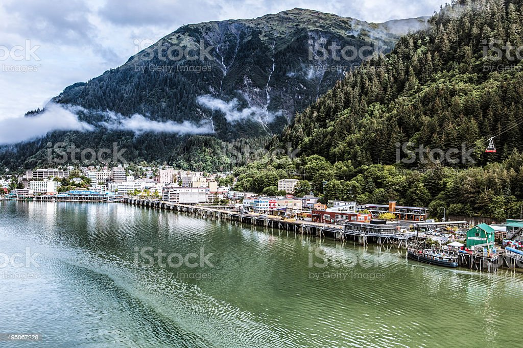 Downtown Juneau, Alaska stock photo