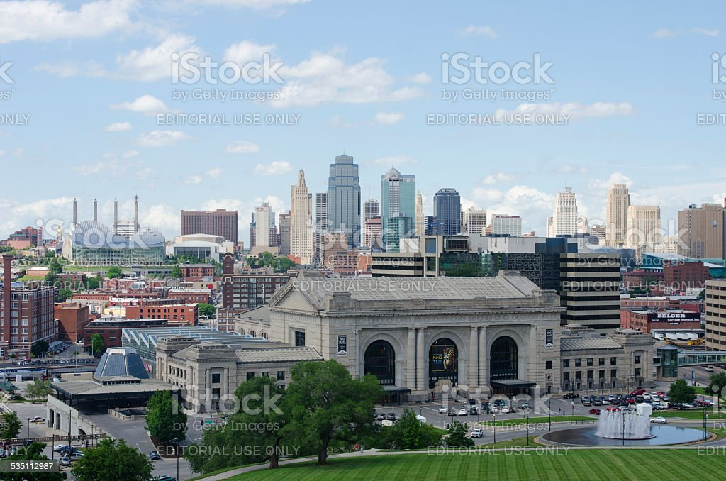 Downtown Kansas City, Missouri in Summer stock photo