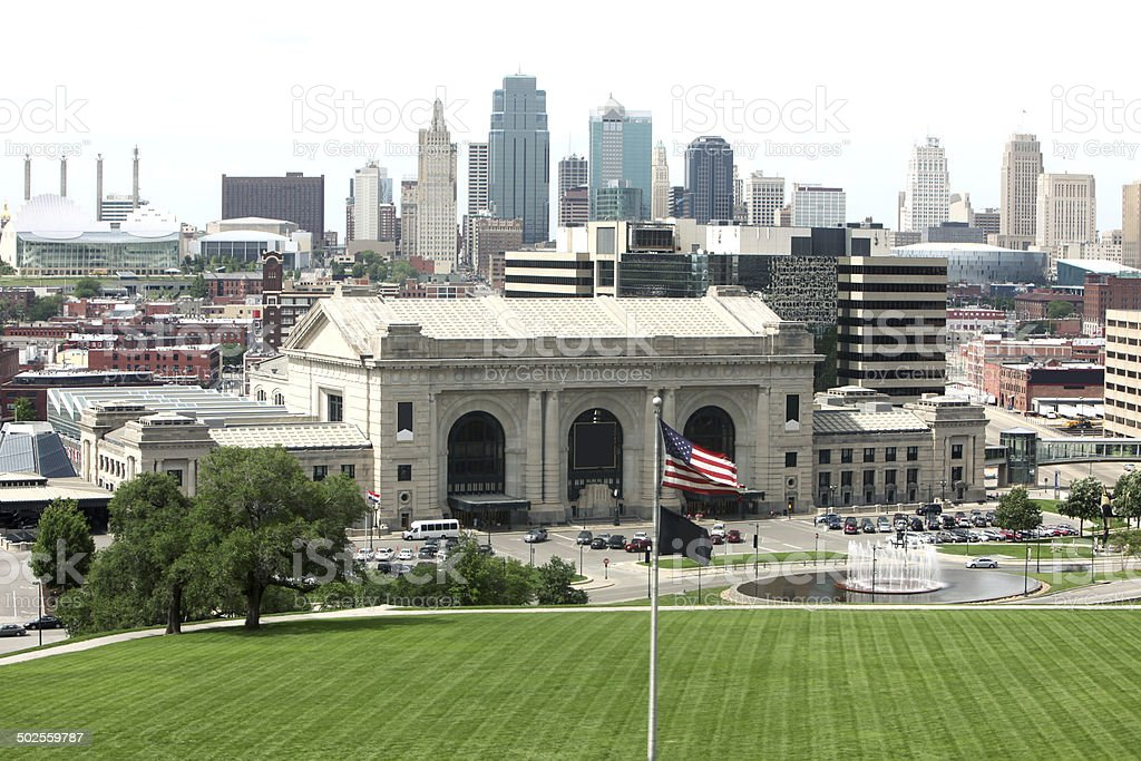 Downtown Kansas City stock photo