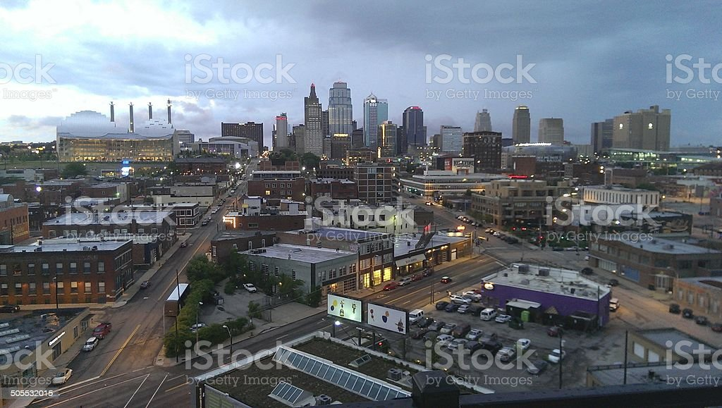 Downtown Kansas City stock photo