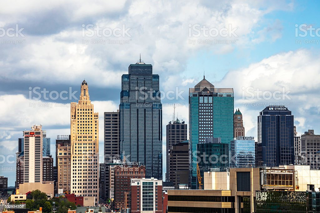 Downtown Kansas City. stock photo