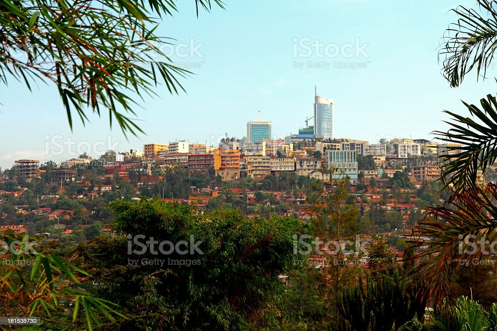Downtown Kigali, Rwanda stock photo