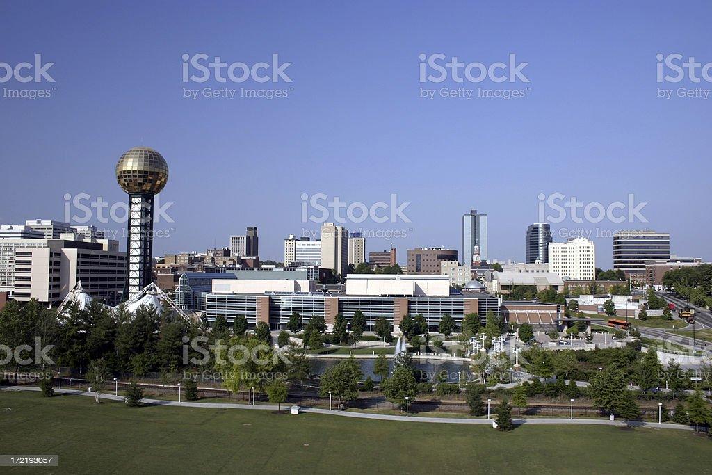 Downtown Knoxville TN skyline stock photo