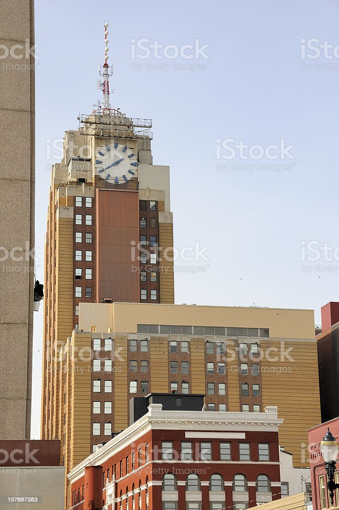 Downtown Lansing Michigan stock photo